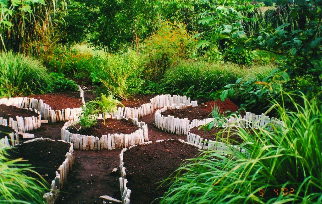 Mandala garden ready to plant
