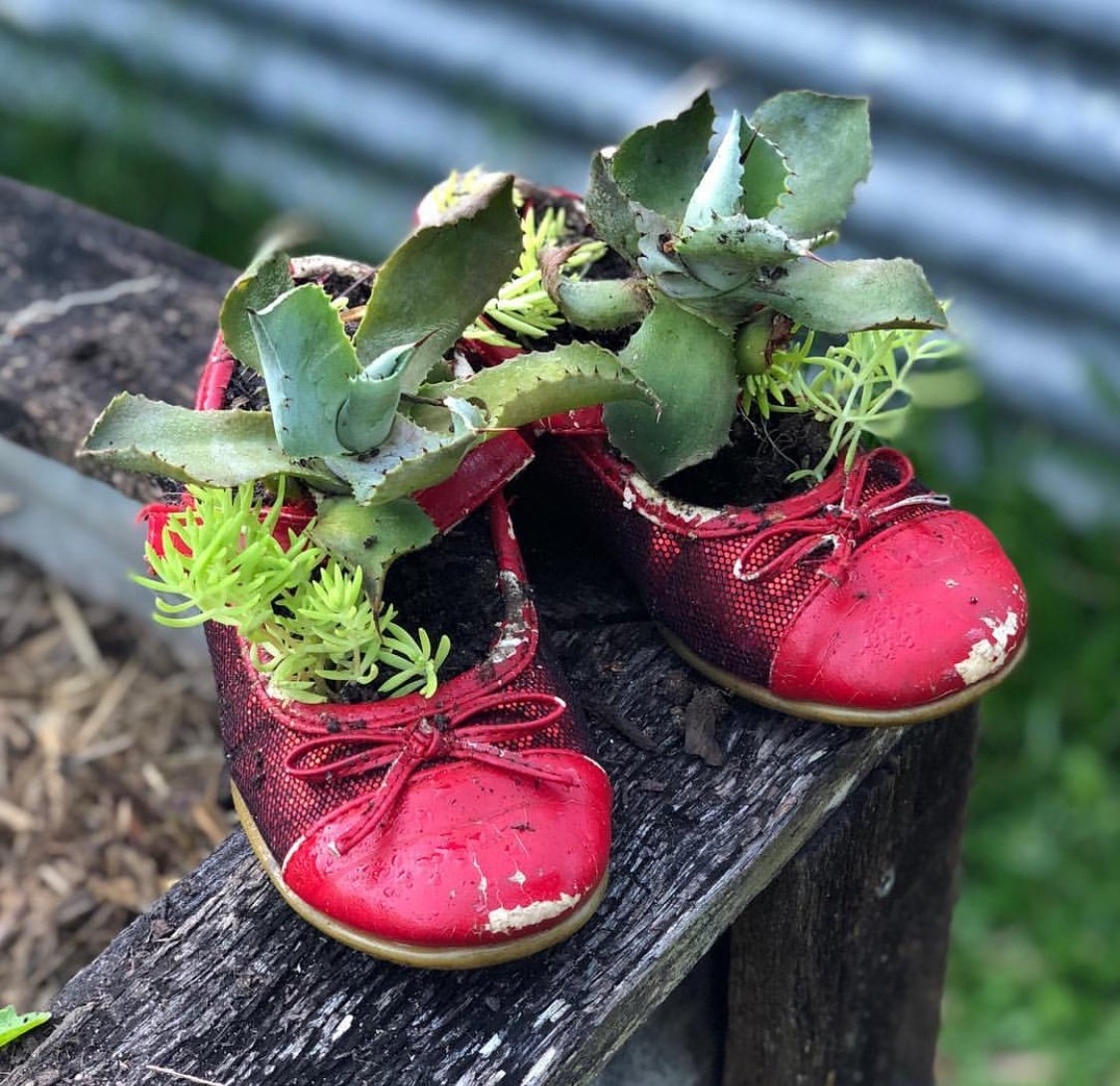 Repurpose old shoes